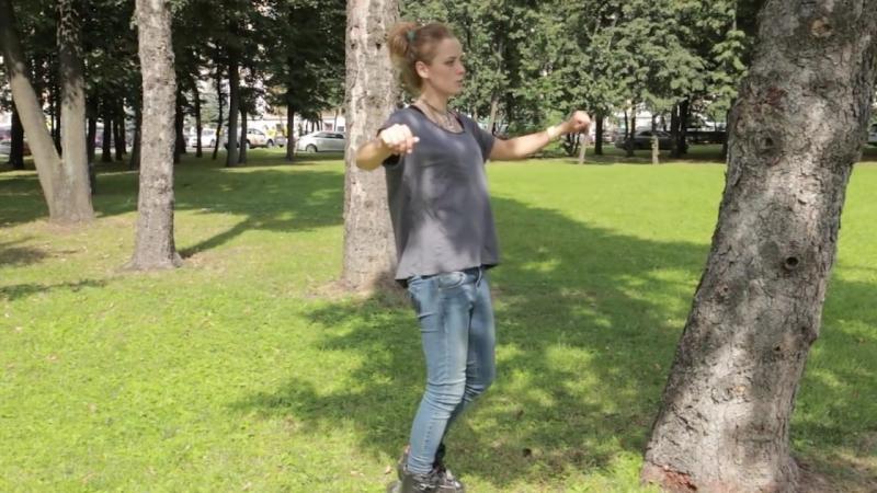 Как кататься на роликовых коньках 1 Сезон. Урок 6. Onefoot