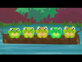 Five Green and Speckled Frogs - Songs for Kids - Nursery Rhymes - The Kiboomers