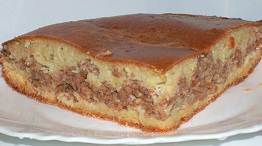 Пирог с мясом в духовке рецепт с фото. «Легче не бывает»