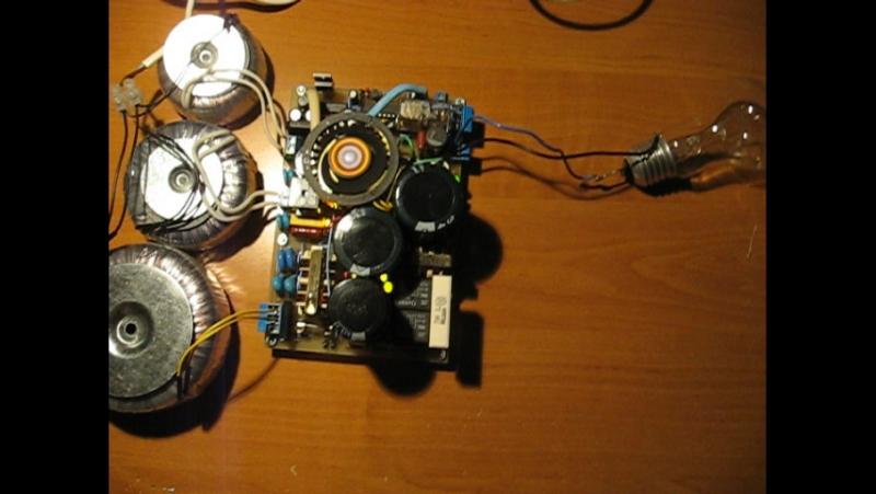 2010г. Самодельный источник питания для музыкалного усилителя на лампах.