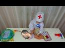 ИГРАЕМ В ДОКТОРА С УКОЛАМИ! РАЗНОЦВЕТНЫЕ УКОЛЫ В ПОПУ СБОРНИК! Bad Baby Play Doctor делает...