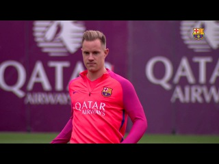 FC Barcelona training session: Straight back to work