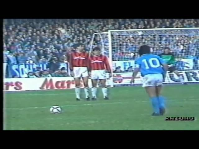 Serie A 1988-1989, day 07 Napoli - Milan 4-1 (Maradona, 2 Careca, Francini, Virdis)