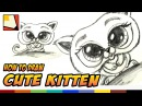 How to Draw a Cute Kitten - Easy Art For Kids BP