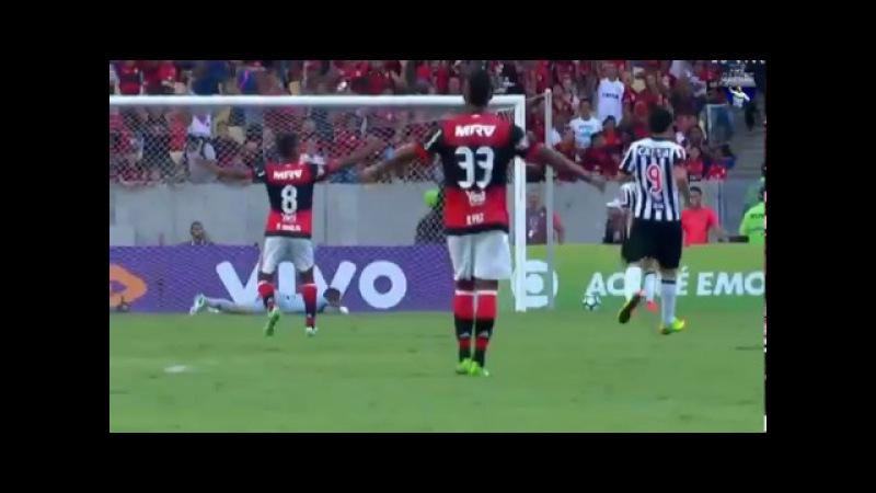 Gol de Matheus Savio, Flamengo 1 x 1 Atletico MG, 2017