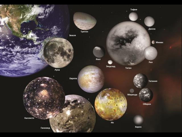 Вселенная Спутники солнечной системы HD