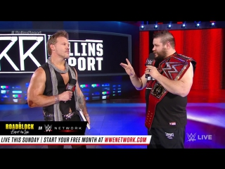 WWE.COM #RAW: Kevin Owens Joins The Rollins Report (12/12/2016)