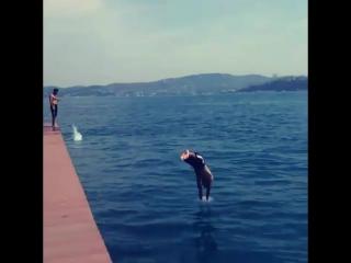 Emirgan Sahilde Yüzmek (3)