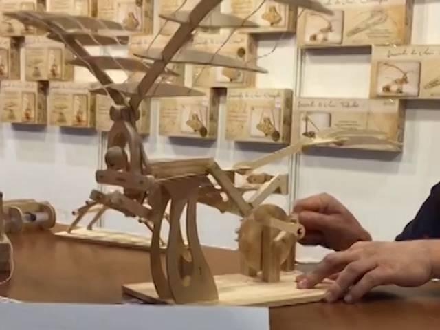 Конструктор из дерева «ОРНИТОПТЕР» Леонардо Да Винчи DE 0171