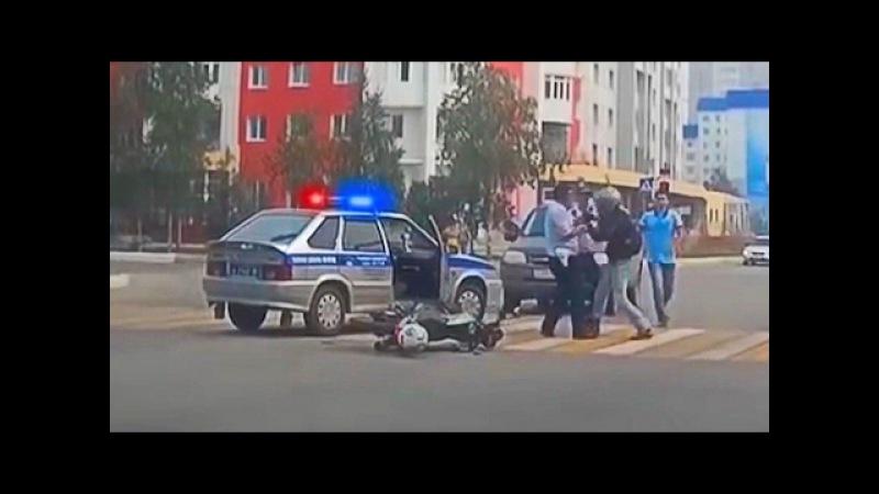 Полиция жестко задерживает байкеров   ДПС против мотоциклистов
