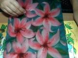 картина из шерсти видео лилия видео часть 7  picture of wool lily