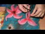 картина из шерсти видео лилия видео часть 2  picture of wool lily