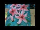 картина из шерсти видео лилия видео часть 5  picture of wool lily