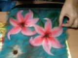 картина из шерсти видео лилия видео часть 3  picture of wool lily
