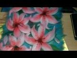 картина из шерсти видео лилия видео часть 6  picture of wool lily
