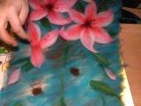 картина из шерсти видео лилия видео часть 4  picture of wool lily
