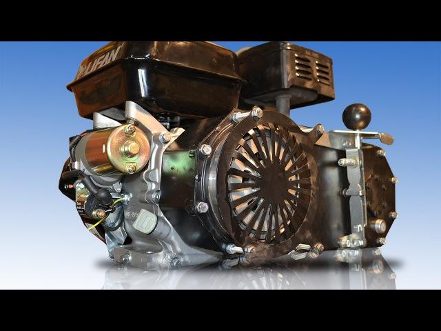 Двигатель и редуктор для полноприводного мотоцикла