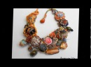Fiber and textile art jewelry Accessories Lilit