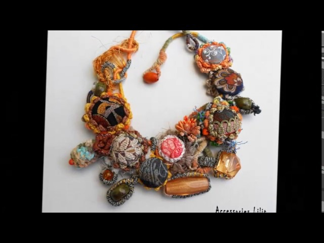Fiber and textile art jewelry - Accessories Lilit