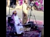 Handicap Saudi dances on wheelchair