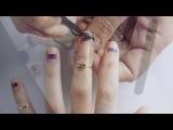 Видеоурок красоты ногти в полоску