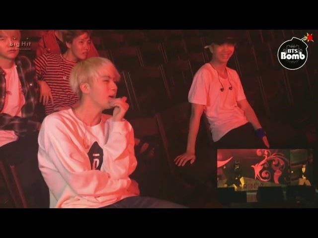 Реакция BTS на танец Чимина и Чонгука