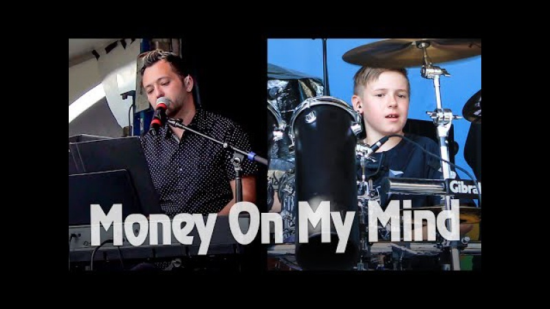 Money On My Mind - LIVE - Avery Drummer Friends - 10 year old Drummer