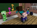Monster School The Mobs Caught Steve Dancing in the Classroom Minecraft Animation
