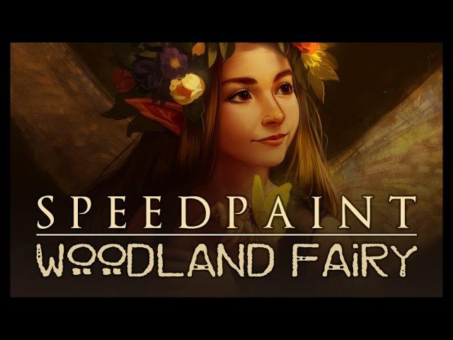 [speedpaint] paint tool sai - Woodland Fairy (Fantasy Portrait Commission)