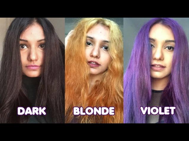 Dark Hair to Blonde to Violet Hair | Manic Panic