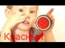 Открываем лизуны и киндер сюрпризы, изучаем цвета и фрукты Принцессы Ариэль, Ан...