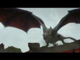 Дейенерис Таргариен прилетела верхом на  драконе Дрого на собеседование с Серсеей