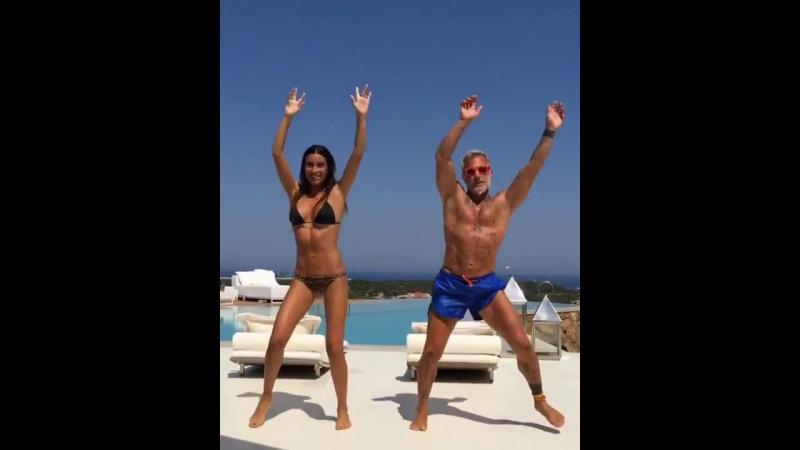 Танцующий миллионер Джанлука Вакки с женой