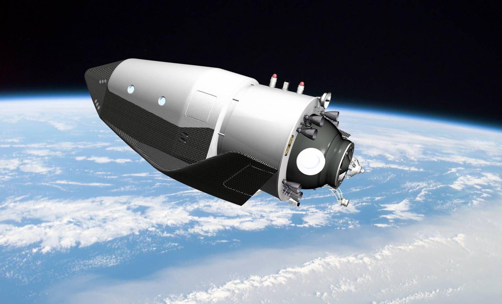 Макет космического корабля будущего в музее истории космонавтики Калуга