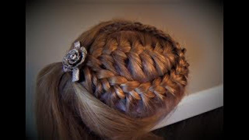 Французская Коса С Кружевной Оплёткой Peinado French Braid with a Lace Braid Wrap