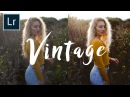 How to edit Vintage Style Photos FAST | Adobe Lightroom Tutorial (4k)