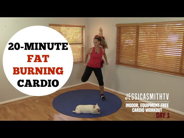20 Minute Fat Burning Cardio Workout No Equipment Needed for All Levels