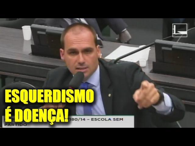 Eduardo Bolsonaro rebate professora militante Esquerdismo é doença