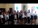 Поздравление с Днем учителя от учеников. Симоничская СШ