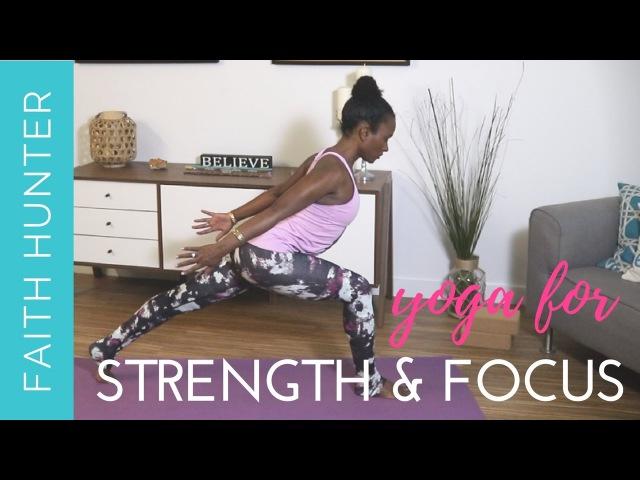 Faith Hunter - Yoga Flow for Strength Focus | Фейт Хантер - Йога для развития силы