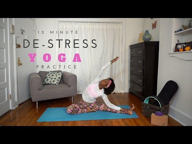 Faith Hunter - De-Strees Yoga Practice I Фейт Хантер - Йога против стресса
