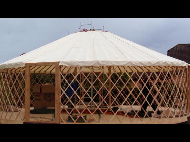 10/2016 - Stavba jurty / Yurt installation / Как это сделано - Юрта / 蒙古包安裝 /