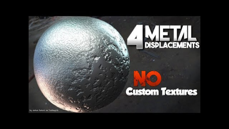 4 Metal Displacement Shaders (NO custom textures or maps) || Blender Tutorial