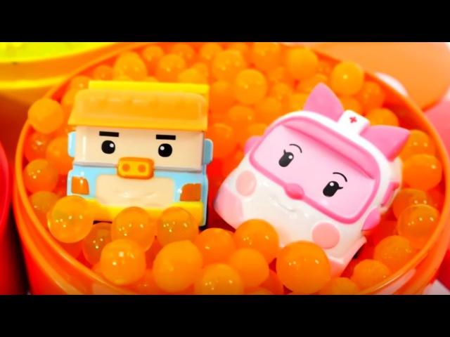 Les Robocars et Orbeez Vidéo éducative pour apprendre les couleurs pour les enfants