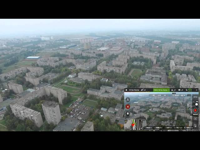 Городской полет на 2км - DJI Phantom 3 Advanced