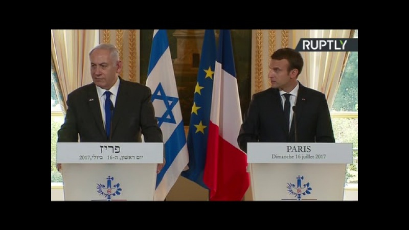 Conférence de presse de Benjamin Netanyahou et Emmanuel Macron (Direct du 16.07)