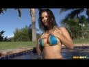 Sunny Leone - Turquoise and Yellow Bikini G String by BikiniRiot (2013)  (порно, секс, эротика/porn, sex, erotic)