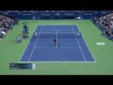 Outrageous rally between Maria Sharapova and Sofia Kenin. #USOpen