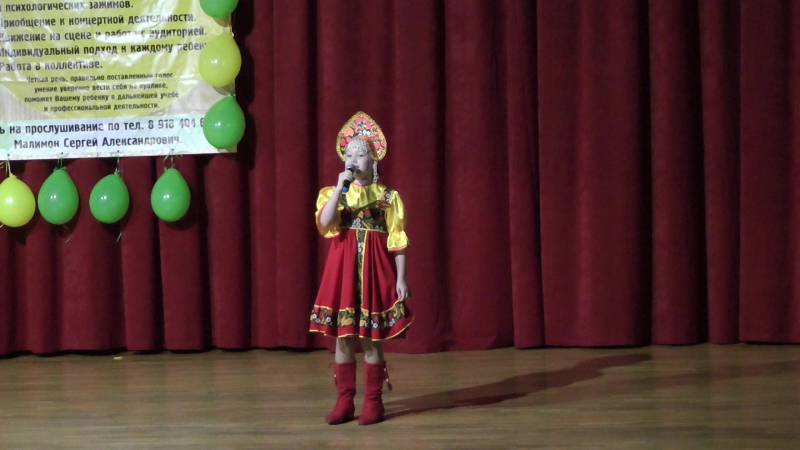 Выступление Анечки на отчетном концерте в ДК Аэлита