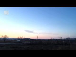 Экстремально низкий полет и падение Су-37 в Чите.